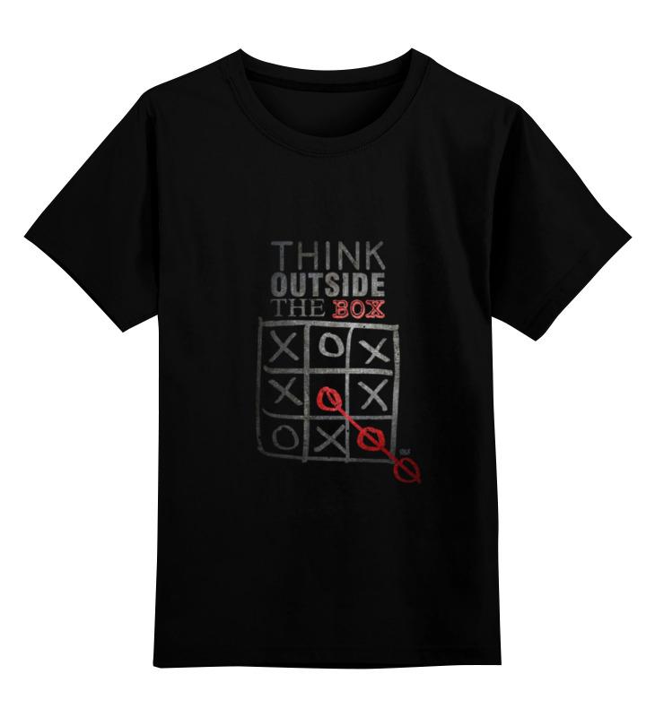 Детская футболка классическая унисекс Printio Think outside the box майка print bar think outside the box
