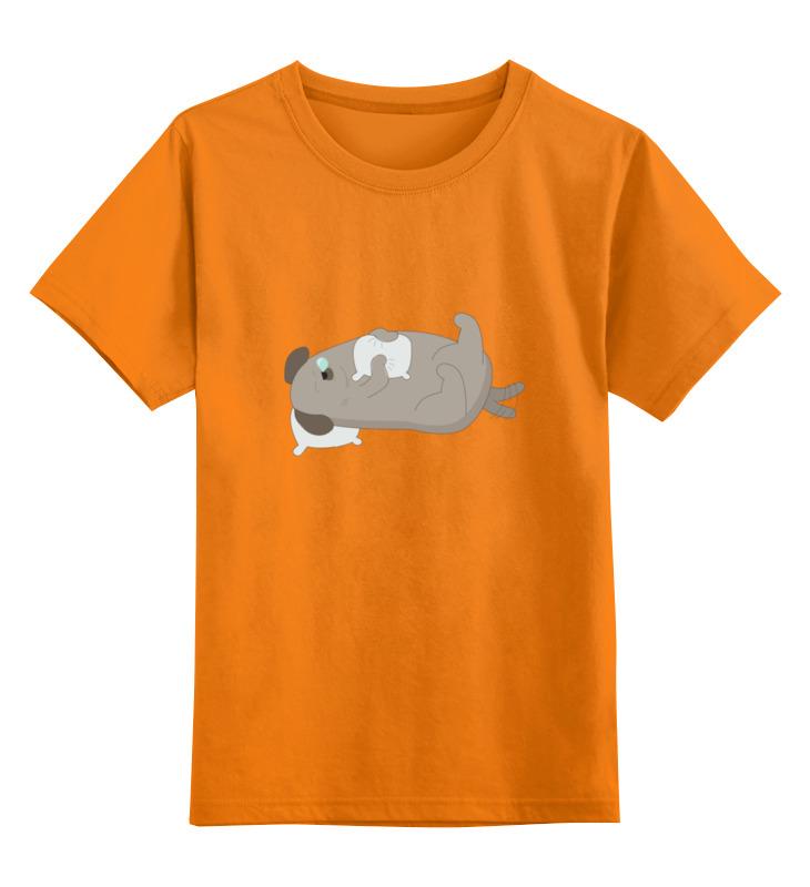 Детская футболка классическая унисекс Printio Спящий пёс