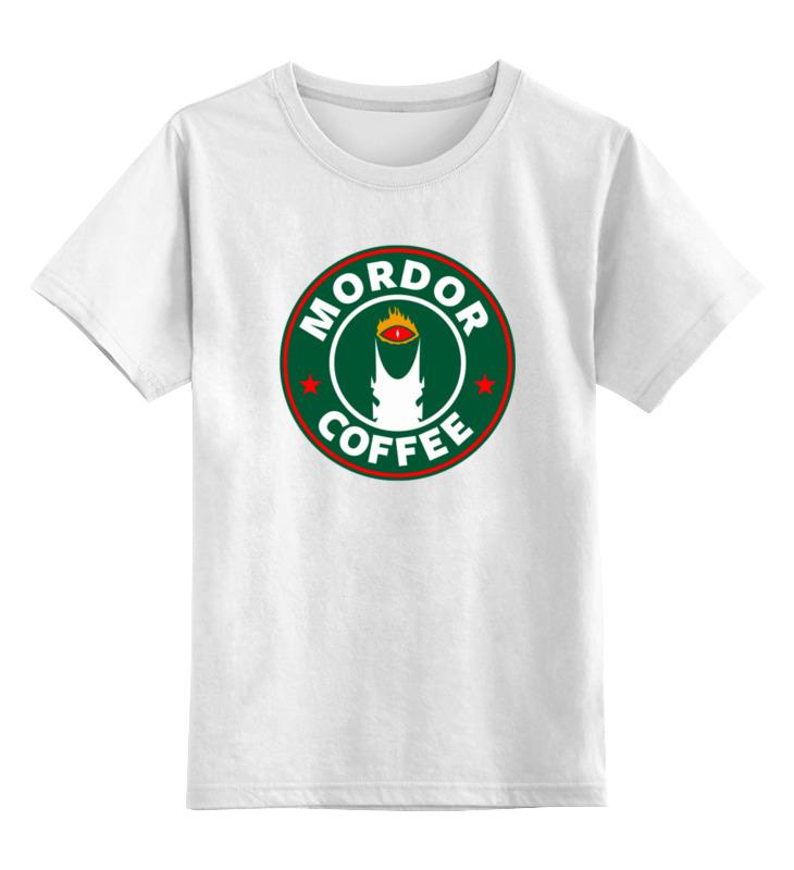 Детская футболка классическая унисекс Printio Mordor coffee