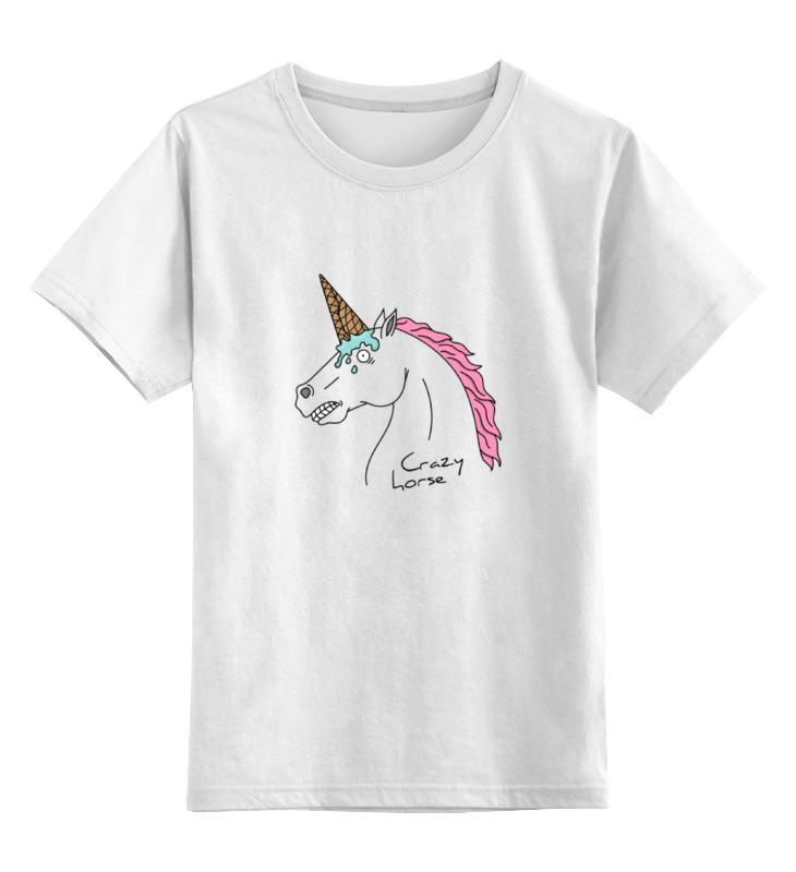 Детская футболка классическая унисекс Printio Crazy horse детская футболка классическая унисекс printio мачете
