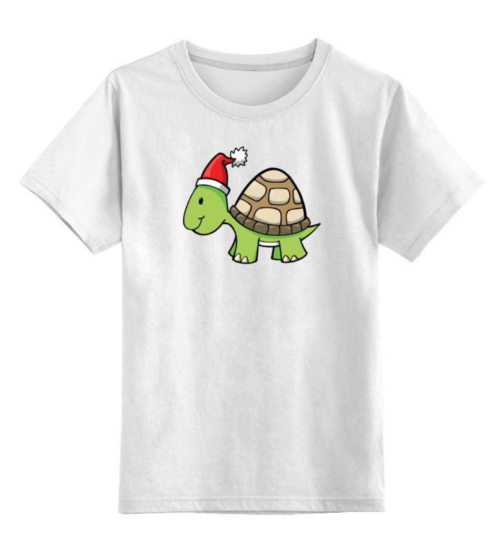 цена на Детская футболка классическая унисекс Printio Новогодняя черепаха