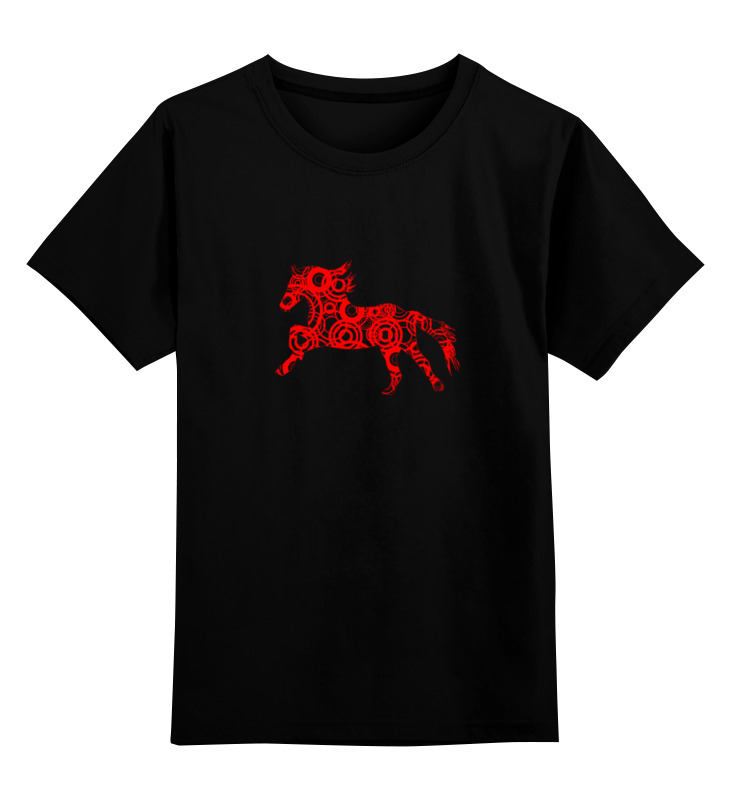 Детская футболка классическая унисекс Printio Horse art цена и фото