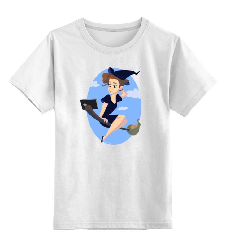 Детская футболка классическая унисекс Printio Ведьма селфи футболка классическая printio ведьма страна оз