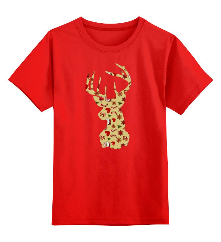 Детская футболка классическая унисекс Printio Новогодний олень детская футболка классическая унисекс printio олень