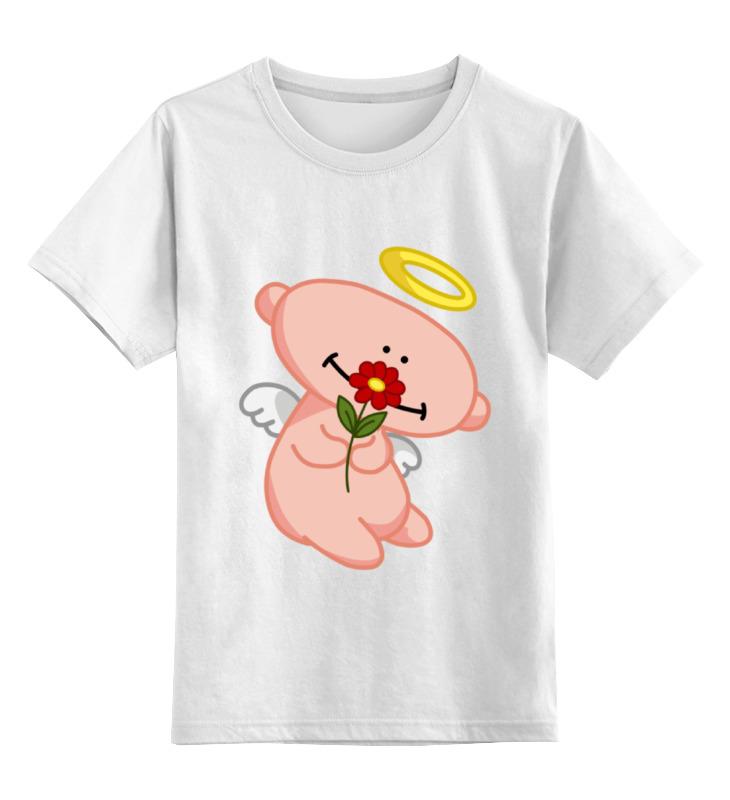 Детская футболка классическая унисекс Printio Ангел с цветком анатолий ярмолюк поспорил ангел с демоном