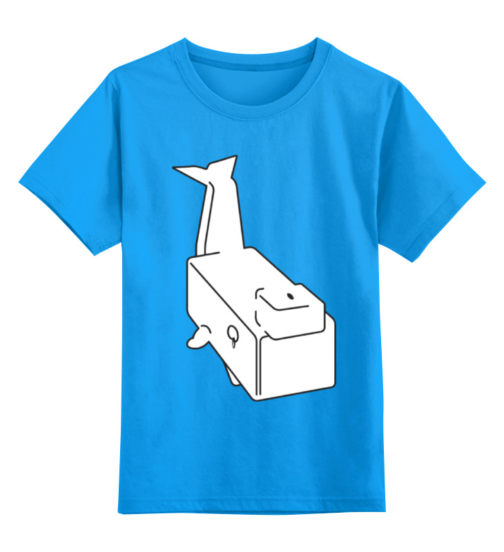 Детская футболка классическая унисекс Printio Моби дик (белый кит) моби дик экскурсия на сцену 2019 02 08t22 15