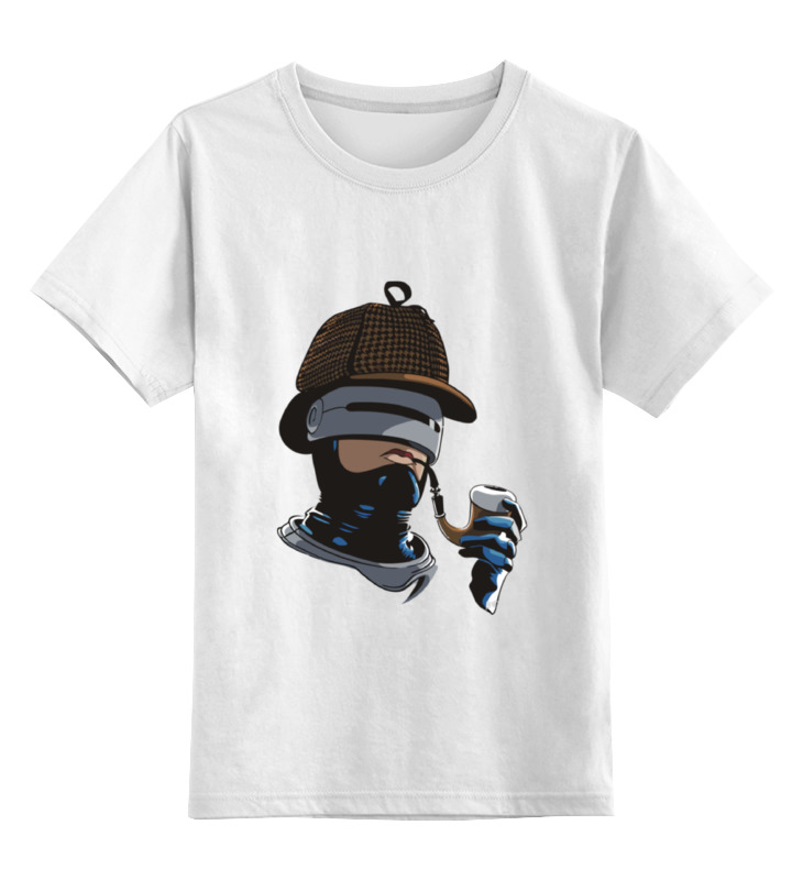 Детская футболка классическая унисекс Printio Robo holmes коврик для мышки круглый printio robo holmes