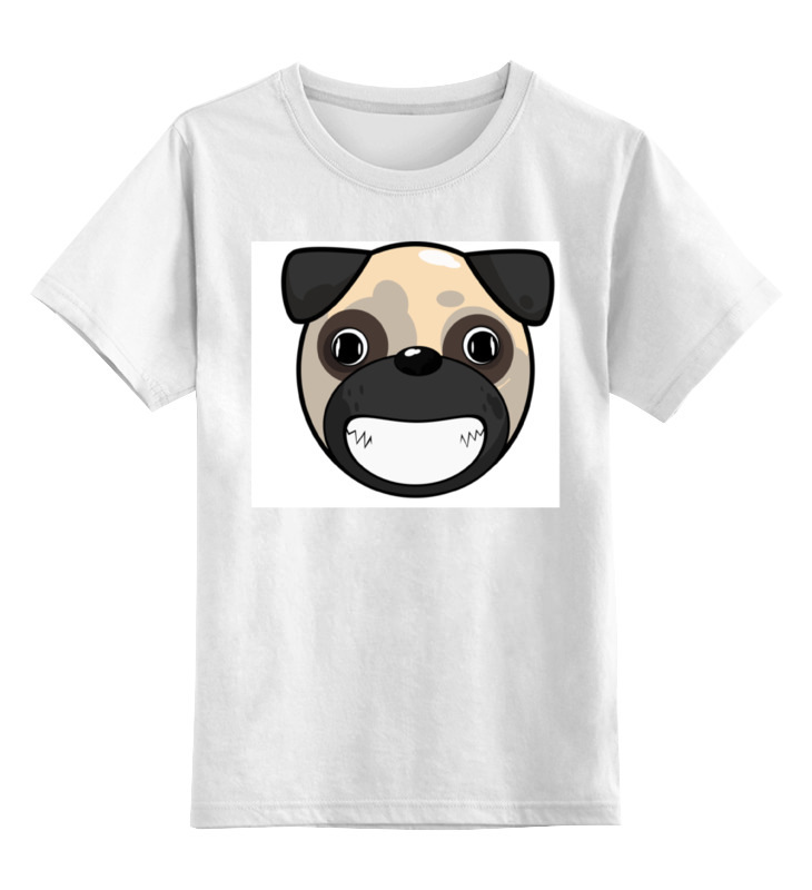 Детская футболка классическая унисекс Printio Улыбающаяся собака
