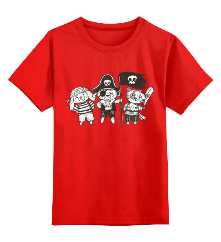 Детская футболка классическая унисекс Printio Пираты smoby детская горка king size цвет красный