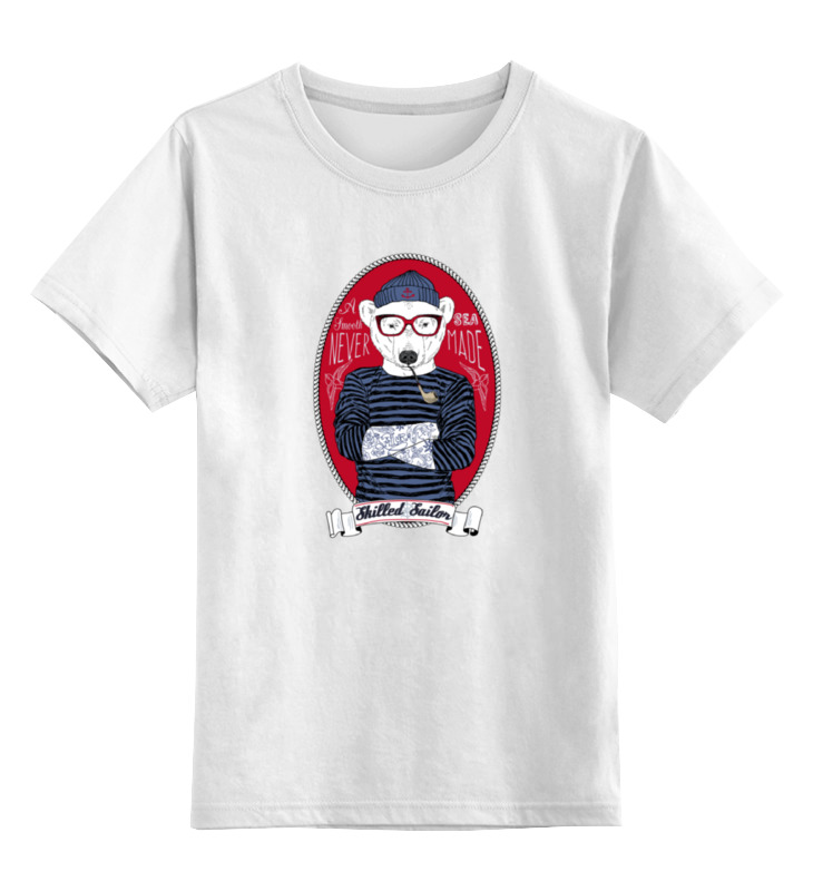 Детская футболка классическая унисекс Printio Моряк футболка стрэйч printio моряк папай