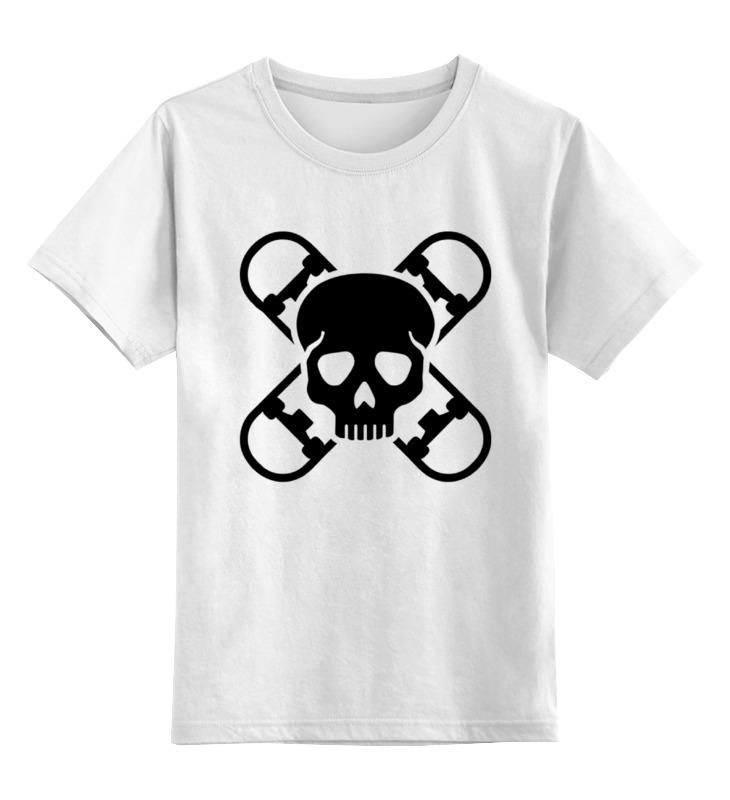 Детская футболка классическая унисекс Printio Череп и скейты самокаты скейты и ролики 11 labeda v6