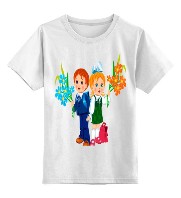 Детская футболка классическая унисекс Printio День знаний.школа.дети.1 сентября цветы 1 сентября зеленоград