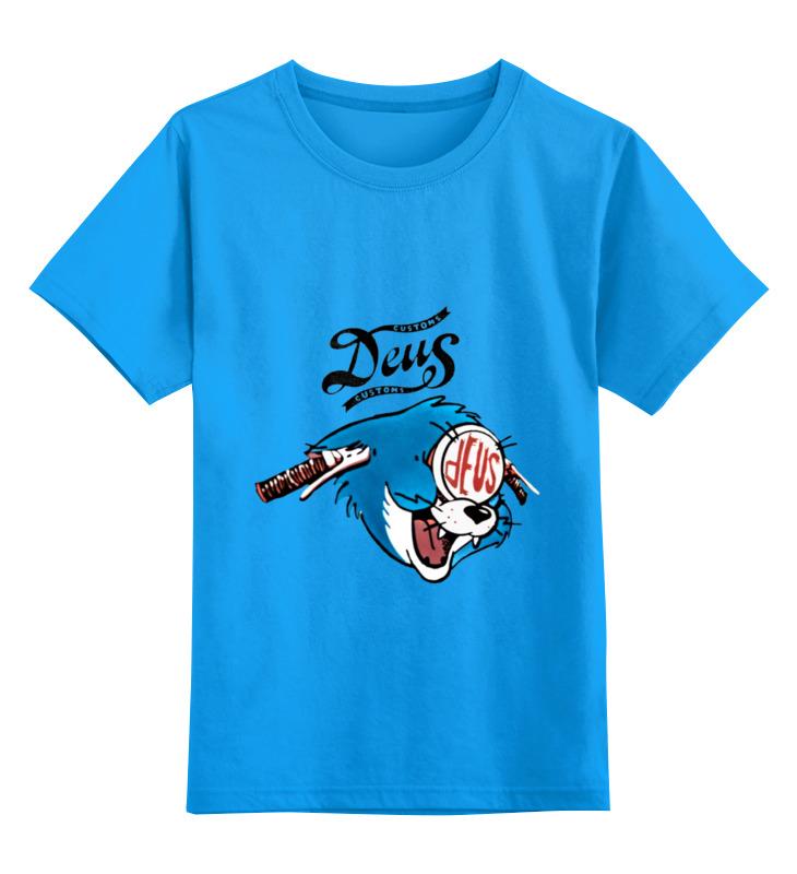 где купить Детская футболка классическая унисекс Printio Deus ex customs дешево