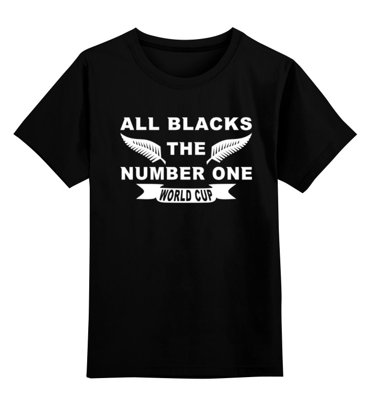 Детская футболка классическая унисекс Printio All blaсks the number one all