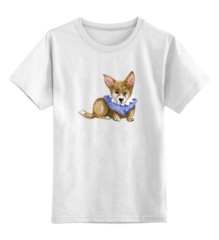 Детская футболка классическая унисекс Printio Акварельная собачка цена и фото