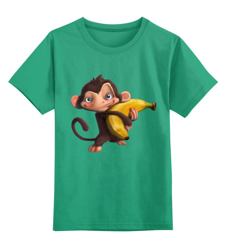 Детская футболка классическая унисекс Printio Обезьянка цена и фото