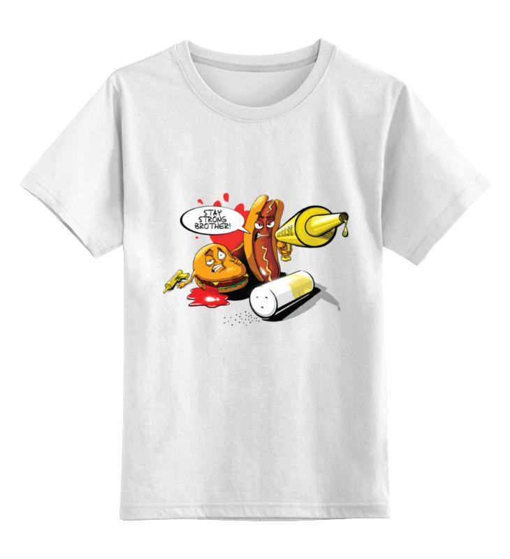 Детская футболка классическая унисекс Printio Gang food футболка рингер printio gang food