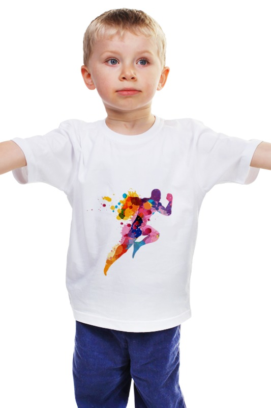 Детская футболка классическая унисекс Printio Бегун