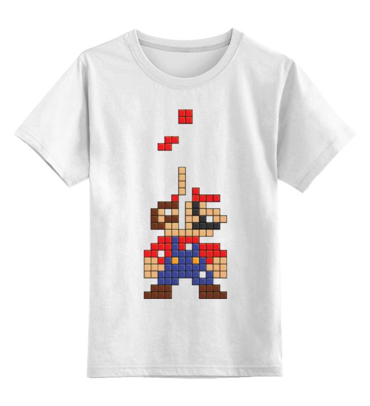 Детская футболка классическая унисекс Printio Марио (тетрис) детская комната тетрис 154 009