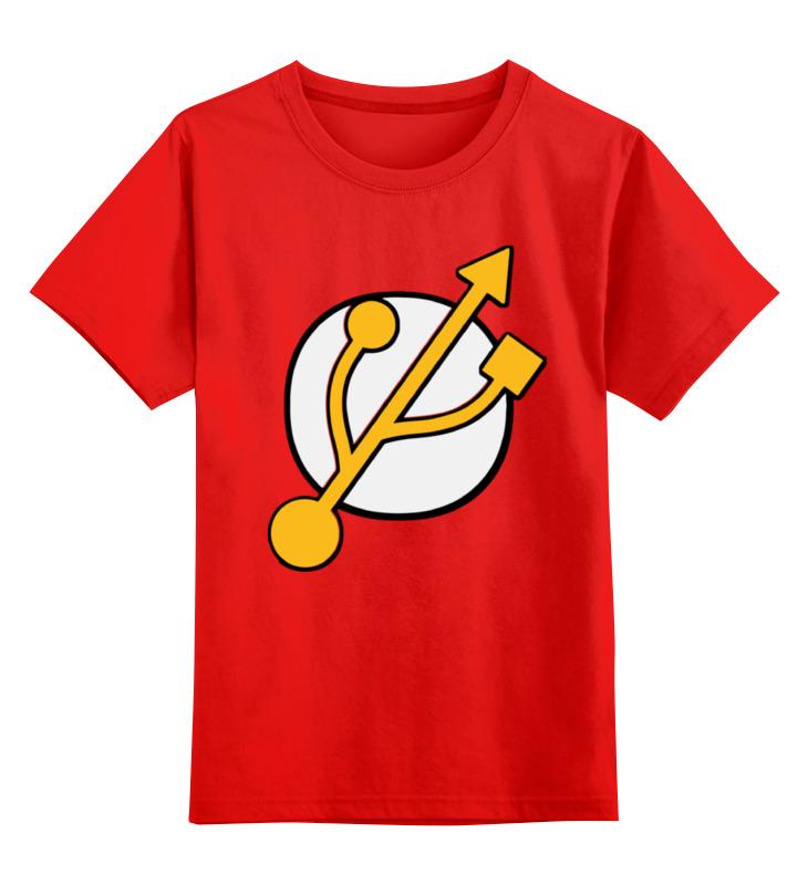 Детская футболка классическая унисекс Printio Flashка smoby детская горка king size цвет красный