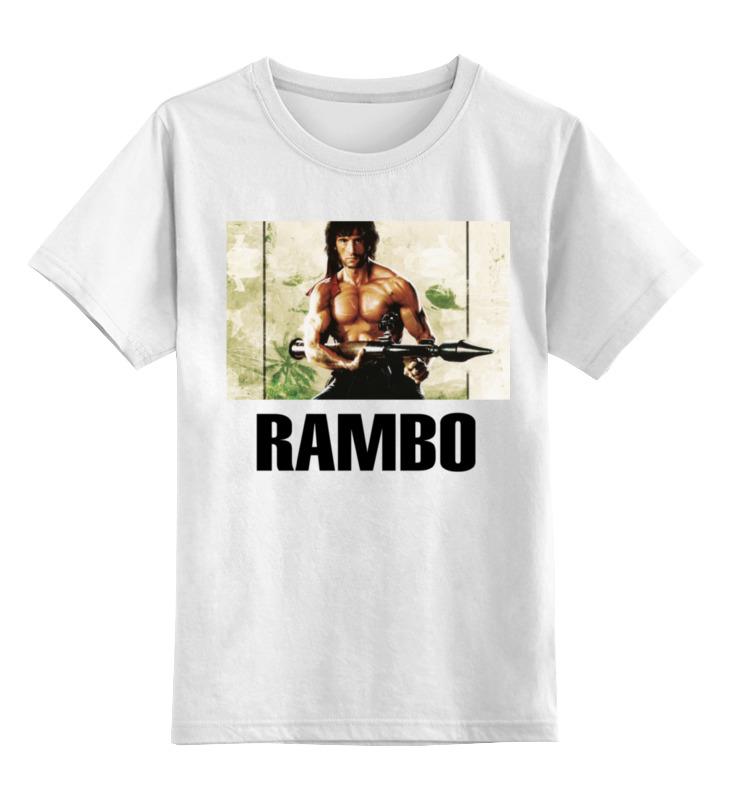 Детская футболка классическая унисекс Printio Рэмбо ветеран