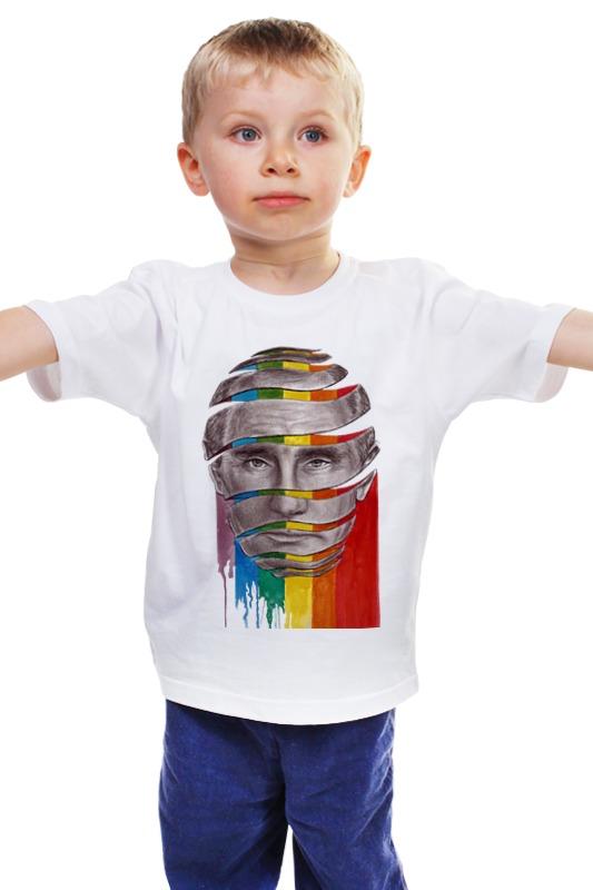 Детская футболка классическая унисекс Printio Путин владимир владимирович