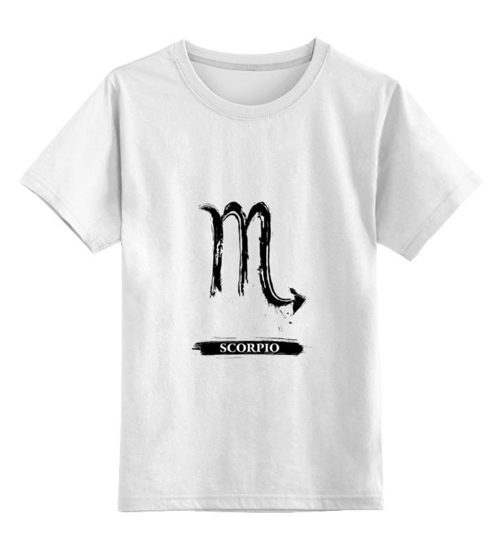 Детская футболка классическая унисекс Printio Знак зодиака скорпион детская футболка классическая унисекс printio знак зодиака лев