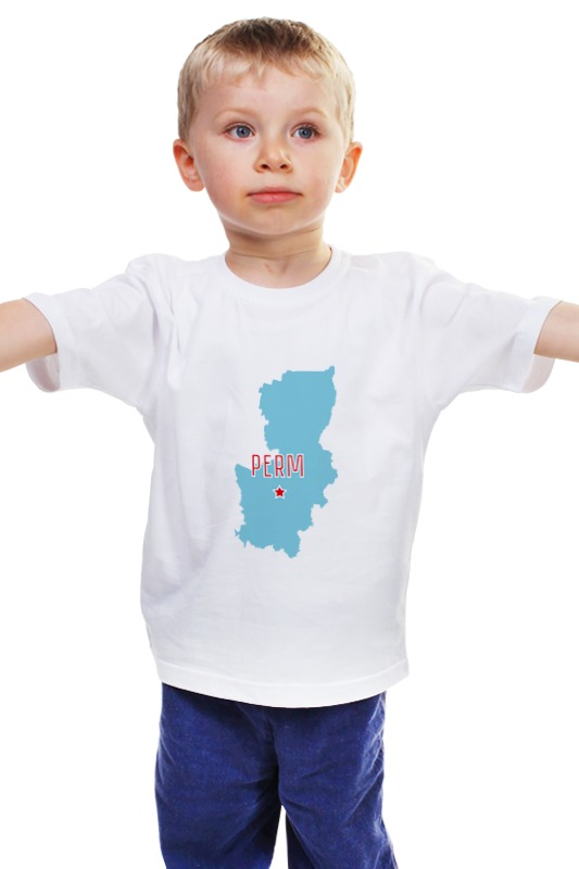 Детская футболка классическая унисекс Printio Пермский край. пермь
