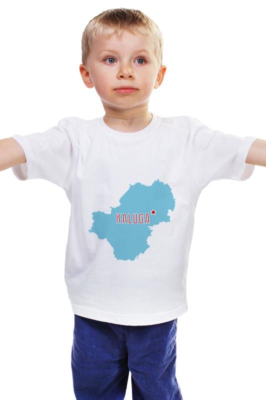 Детская футболка классическая унисекс Printio Калужская область. калуга
