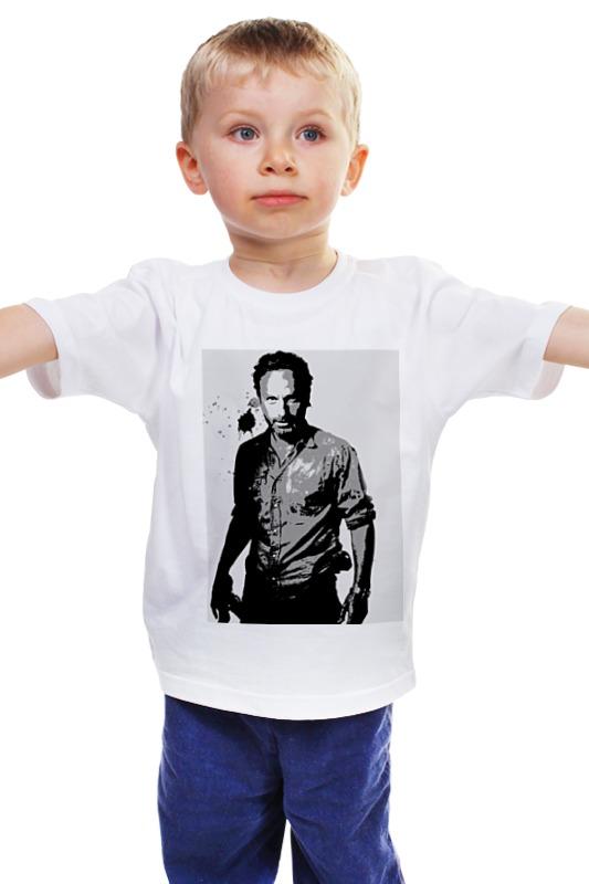 Детская футболка классическая унисекс Printio The walking dead rick худи print bar the walking dead