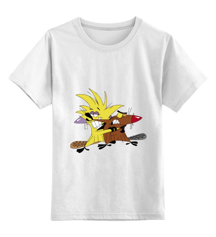 Детская футболка классическая унисекс Printio The angry beavers