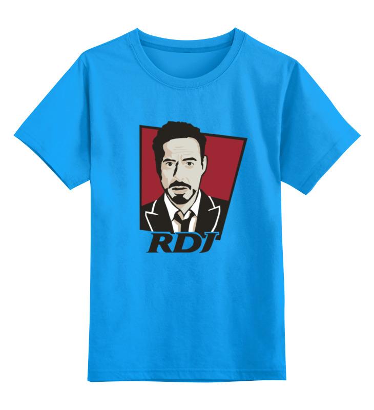 Детская футболка классическая унисекс Printio Роберт дауни