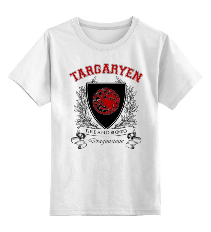 Детская футболка классическая унисекс Printio Игра престолов. дом таргариенов футболка print bar дом таргариенов