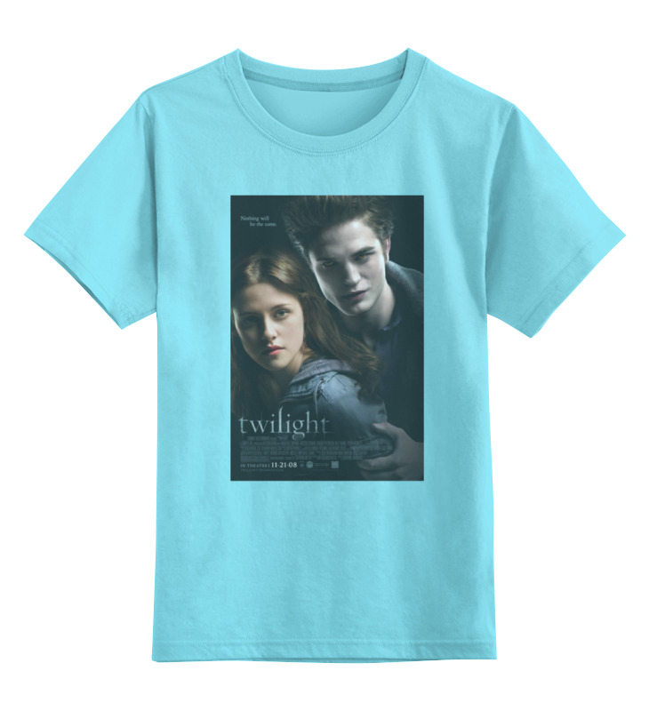 Детская футболка классическая унисекс Printio The twilight saga / сумерки stylish printed elastic waist chiffon maxi skirt for women
