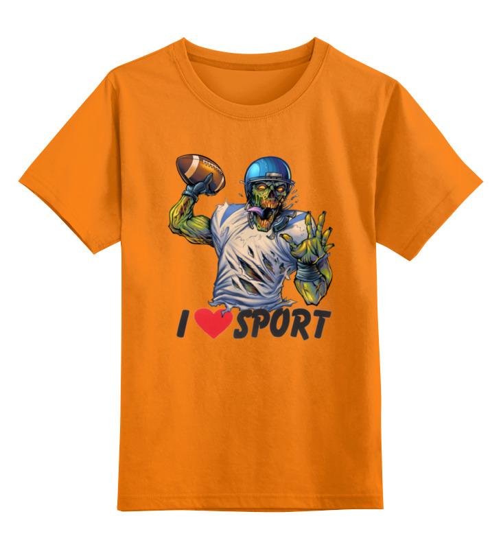 Детская футболка классическая унисекс Printio Зомби спорт - я люблю спорт