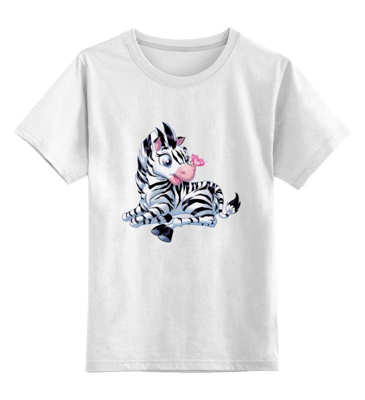 Детская футболка классическая унисекс Printio Зебра с бабочкой профессиональная пластиковая форма котенок с бабочкой