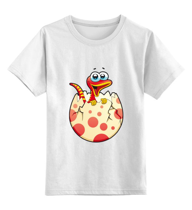 Детская футболка классическая унисекс Printio Новорождённый динозаврик сумка printio новорождённый динозаврик