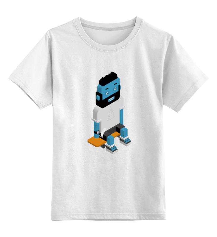 Детская футболка классическая унисекс Printio Skateboarder