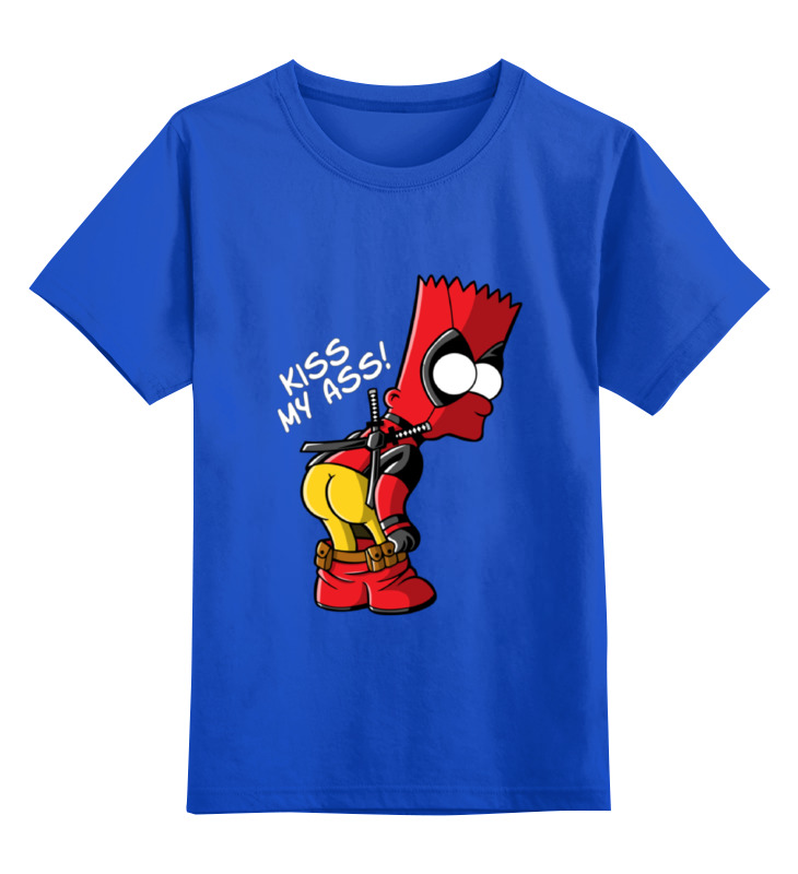 Детская футболка классическая унисекс Printio Bart deadpool детская футболка классическая унисекс printio bart deadpool
