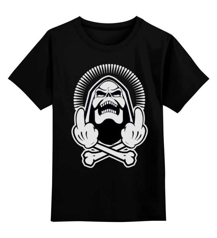 Детская футболка классическая унисекс Printio Skeleton f*ck you