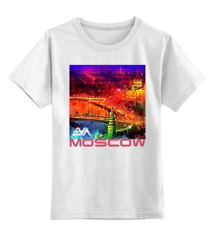 Детская футболка классическая унисекс Printio Moscow love