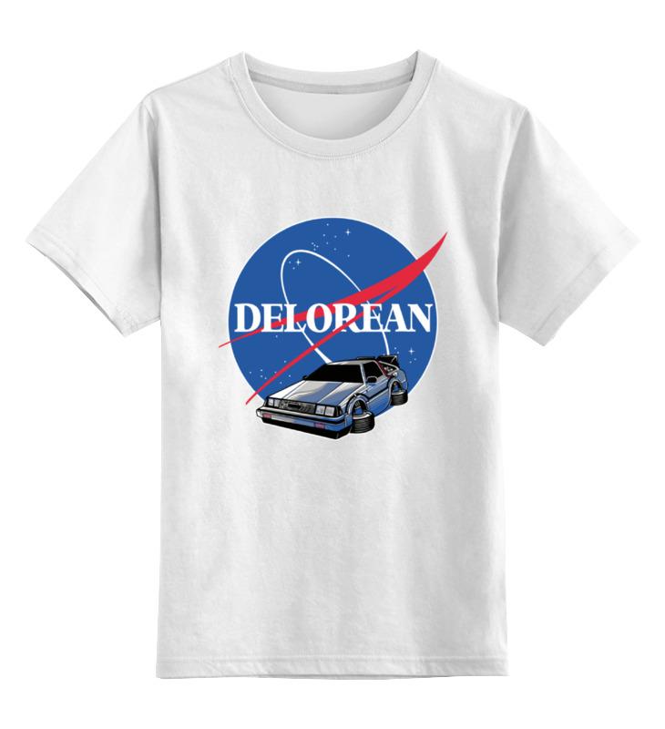Фото - Детская футболка классическая унисекс Printio Делориан (назад в будущее) contrast lace keyhole back blouse