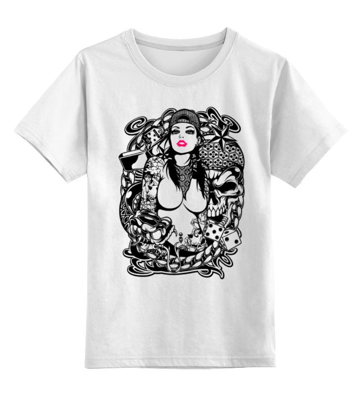 Детская футболка классическая унисекс Printio Tatoo girl детская футболка классическая унисекс printio tank girl