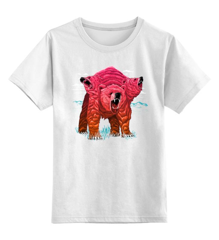 Детская футболка классическая унисекс Printio Трёхголовый медведь