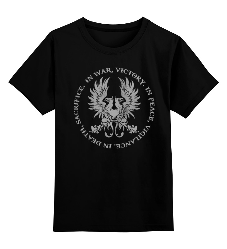Детская футболка классическая унисекс Printio Dragon age. серые стражи