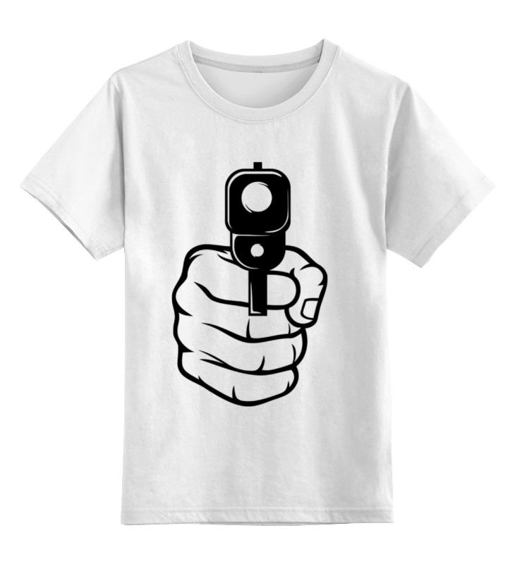 Детская футболка классическая унисекс Printio Пистолет