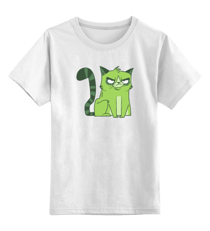 Детская футболка классическая унисекс Printio Сердитый котик