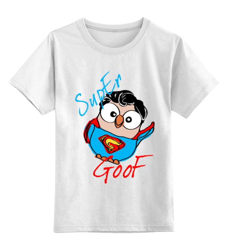 Детская футболка классическая унисекс Printio Сова супермен суперсова goofi футболка стрэйч printio сова супермен суперсова goofi