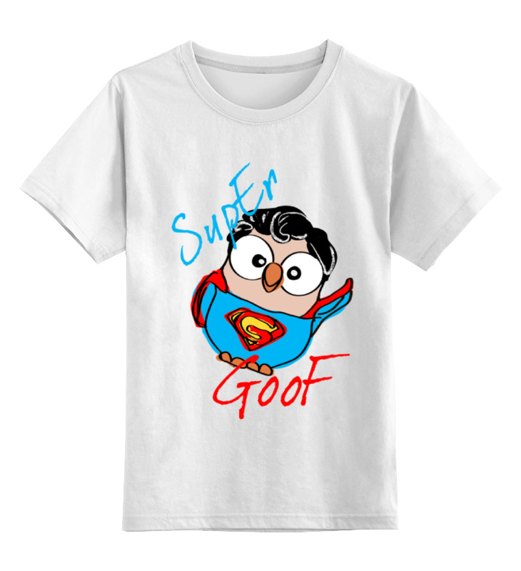 Детская футболка классическая унисекс Printio Сова супермен суперсова goofi футболка классическая printio сова сальвадор дали суперсова goofi