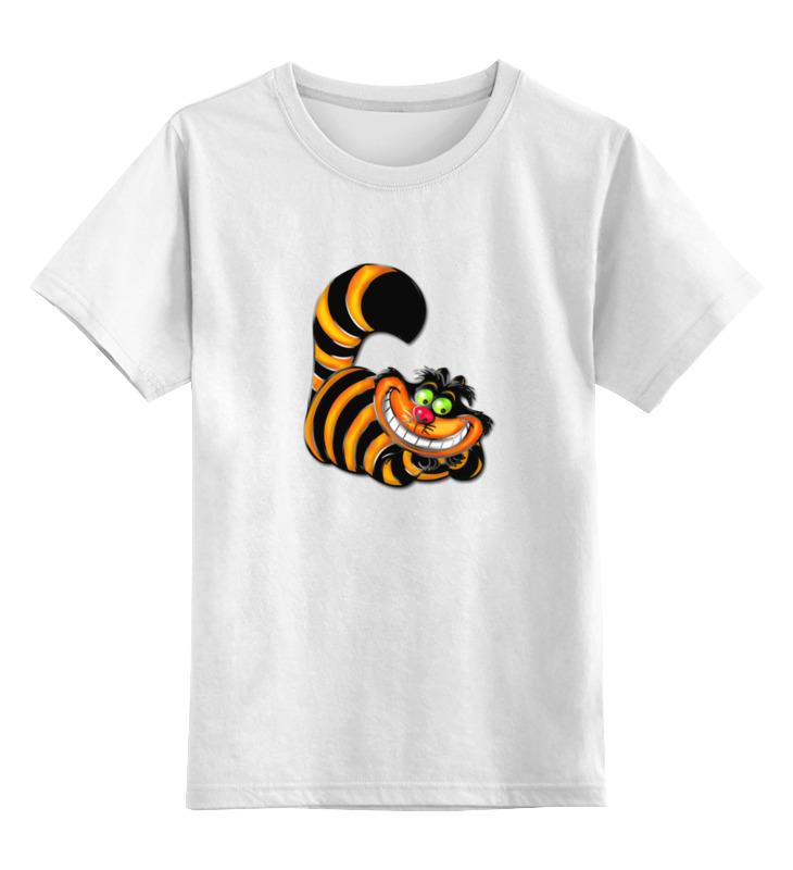 Детская футболка классическая унисекс Printio Чеширский кот детская футболка классическая унисекс printio абстрактный кот